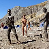 Stripped beach secret nude.