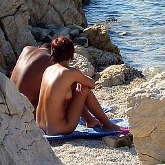 Outdoor sunbathe.