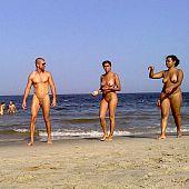 Nudists sunbathe naked flash.