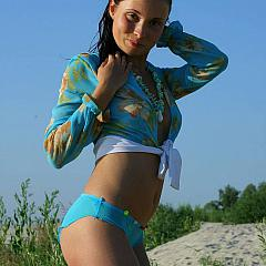 Outdoor bikini.